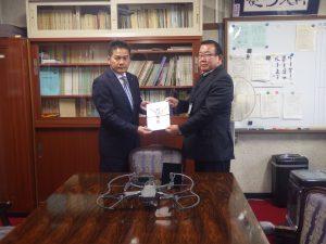 岐阜県立大垣工業高等学校にドローンを寄贈させていただきました。