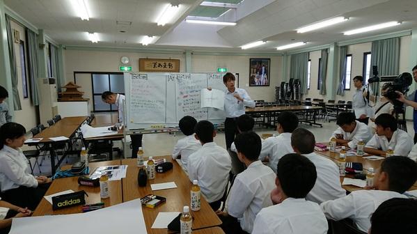大垣工業高等学校での特別授業